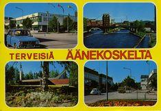 Terveisiä Äänekoskelta #Äänekoski #Postikortit #Maisemakortit #matkailu #Suomi #Finland Teenage Years, Back In Time, Old Toys, Finland, Nostalgia, Old Things, Childhood, Memories, History