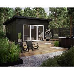 Pergola Ideas Modern Home - - - Pergola DIY Attached To House How To Build - Backyard Pergola Lighting Backyard Studio, Backyard Sheds, Garden Studio, Pergola Shade, Pergola Patio, Backyard Patio, Black Pergola, Corner Pergola, Small Pergola