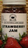 Strawberry Jam, All Natural/Low Sugar, 9 oz « Lolly Mahoney Strawberry Preserves, Strawberry Jam, Low Sugar, Jar, Homemade, Fruit, Natural, Food, Strawberry Jelly