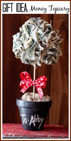 Money Topiary Gift Idea - graduation gift idea