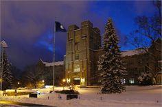 Snow on Campus. Virginia Tech. Burruss Hall.  2014-02-13. #virginiatech #hokies