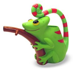 """The kids love watering things. And they both love chameleons since seeing """"Tangled"""". :-)"""