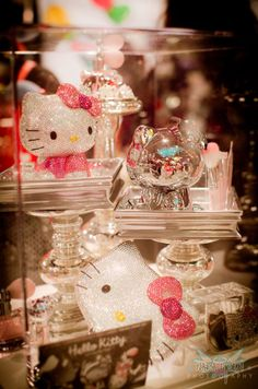 hello kitty, makeup, pink, pretty, sparkle