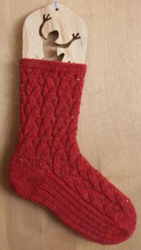 Trellis Socks - knit with Spinnery Sock Art Forest or Meadow