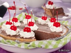 Chocolate Milkshake Pie - It's a 1950s diner classic...with a twist! This smooth, creamy, chocolate dessert will take you way back.
