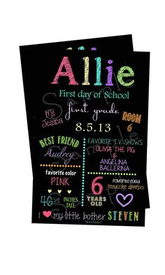 First day of school sign- Back to school via Etsy