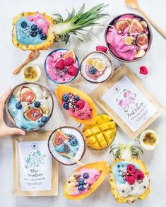 All Kinds of Colourful Smoothies created by the talented @anettvelsberg Which one would you choose?  Shop our superfoods here: https://www.unicornsuperfoods.com/collections/all