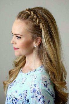Peinado cabello suelto trenza