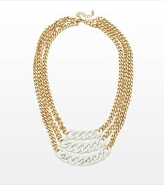 Complete your summer look with this edgy three tier chain necklace!