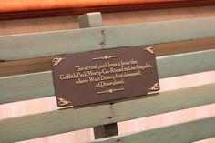 Actual bench in LA where Walt Disney first dream of Disneyland. Bucket List!