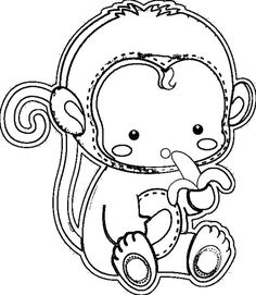 Monkey, : monkey-coloring-and-cutting-paper. Monkey Coloring Pages, Cartoon Coloring Pages, Coloring For Kids, Coloring Sheets, Free Monkey, Monkey Baby, Online Coloring Pages, Color Activities, Applique Patterns