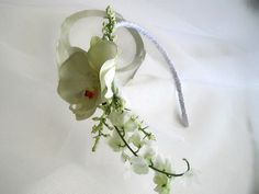 Orchid Headband One Of A Kind Side Accent Flowers by handcraftusa