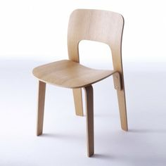 Armless chair for Nextmaruni by Jasper Morrison