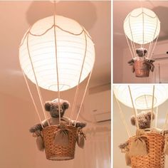 Hot air balloon rice lamp for baby room by OrBiran.