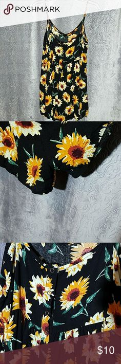 36 Point 5 Summer Romper Large Sunflower romper. Yes,  it's shorts. Snap up back, good condition 36 Point 5 Other