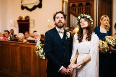 Ruth + Conor | Woodland Wedding | Wedding Photography Northern Ireland #vintage #flowercrown #bride #groom
