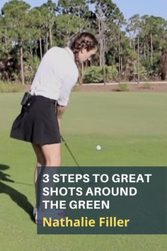 Nathalie Filler from Old Palm Golf Club shows you three easy practice swing checks to help you hit consistently good chip shots around the green. #golf #golftip #golfswing #golflessons #womensgolf Golf Wedges, Golf Chipping Tips, Golf Books, Golf Score, Golf Day, Teaching Career, Best Golf Courses, Golf Instruction, Golf Putting