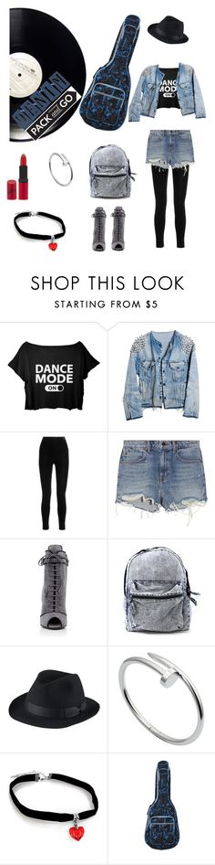 """""""Mean Jean"""" by dracula0826 ❤ liked on Polyvore featuring Runwaydreamz, Balmain, Alexander Wang, Prada, Uniqlo, Cartier and Rimmel"""