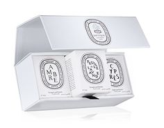 Build Your Own Scented Candle Gift Set by diptyque Perfume Packaging, Candle Packaging, Luxury Packaging, Diptyque Candles, Scented Candles, Best Bridesmaid Gifts, Flower Perfume, Mini Candles, Bride And Groom Gifts
