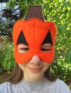 pumpkin mask for kid - Google Search