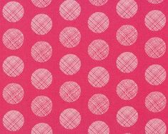 Feiner Popeline-Patchworkstoff CHROMATICS, Raster-Kreise, pink