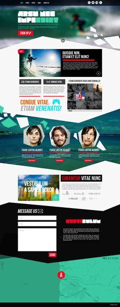 Extreme Water Sport Website by ~jnusjnus on deviantART