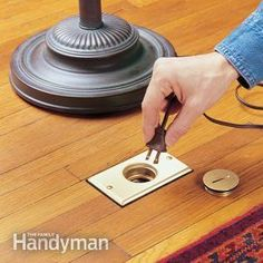 How to Install a Floor Outlet: Sometimes electricity is just not where you need it, especially in big rooms and in older houses. A floor outlet may be the perfect way to solve the problem.