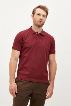 Cortefiel Cotton polo Natural