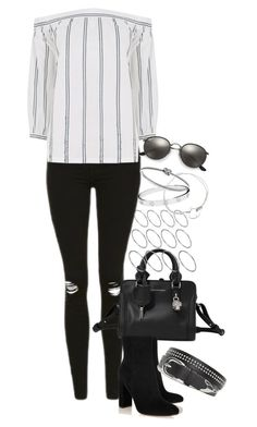 """""""Untitled #968"""" by manoella-f ❤ liked on Polyvore featuring Topshop, Warehouse, Alexander McQueen, Gianvito Rossi, Ray-Ban, ASOS, Cartier and Michael Kors"""