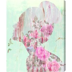 The Oliver Gal Artist Company Birds in Her Head Canvas Art ($390) ❤ liked on Polyvore featuring home, home decor, wall art, backgrounds, art, decor, pictures, borders, picture frame and rose picture