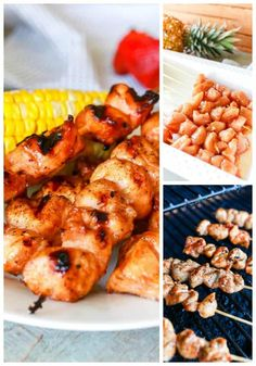 Maple Barbecue Chicken Kabobs - Made with a homemade maple barbecue sauce, a touch of caramelized sweetness, it's easy to make and perfect for summer. #ad