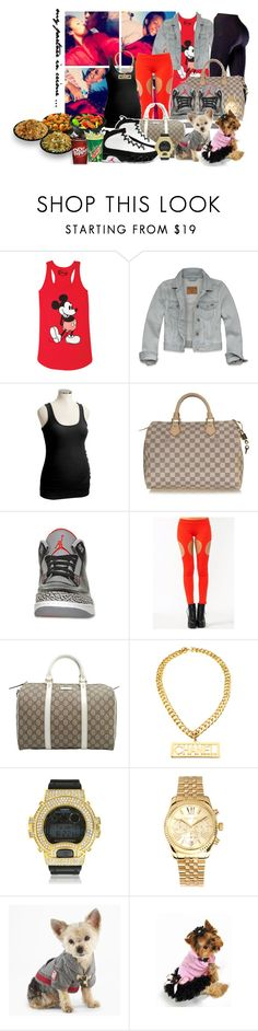 """@Pɑndɑ Express w/ my bubbɑ ♥"" by airjordaaan ❤ liked on Polyvore featuring Hollister Co., Old Navy, Louis Vuitton, Retrò, Gucci, NIKE, Chanel, Panda, G-Shock and Michael Kors"