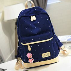 Korea fashion students backpack · Fashion Kawaii [Japan & Korea] · Online Store Powered by Storenvy Cute Mini Backpacks, Stylish Backpacks, Girl Backpacks, Leather Backpacks, School Backpacks, Leather Bags, Cute School Bags, School Bags For Girls, Girls Bags