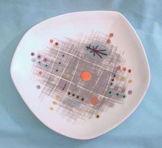 Vintage Richard Saar Ceramics California Mid Century Modern Atomic Age Bowl