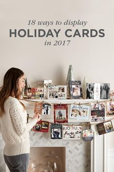 Give all of your holiday greeting cards the proper recognition they deserve by creating a fun Christmas card display! Turn Christmas cards into Christmas decoration ideas in minutes with these ideas.