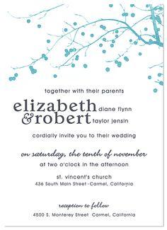 Beautiful, simple wedding invitation (December wedding...)