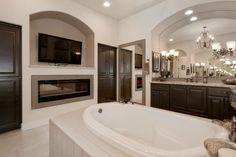 Beautiful master bathtub setup