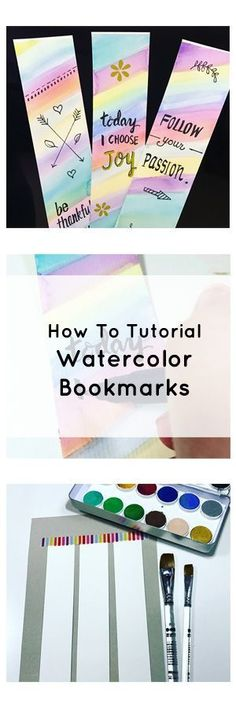 This how to DIY tutorial shows you the steps how to use watercolors and card stock to make some pretty and artistic bookmarks.