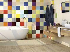 Zdjęcie nr 1 w galerii - Kolorowe płytki w łazience - aranżacje