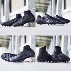 The new all black nikes are mad would you wear these on the pitch? : @bootcollector
