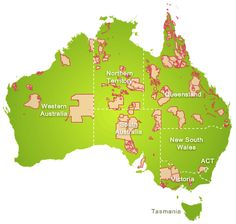 Map of Indigenous Land Use Agreements in Australia.
