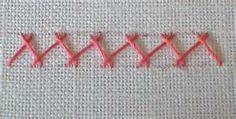 ... embroidery tutorial , hand embroidery , Herringbone Stitch , stitch A