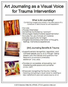 """Art Journaling as a Visual Voice for Trauma Intervention"": Gretchen Miller, MA, ATR-BC, CTC-S"