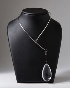 Sterling silver and rock crystal. Provenance: Purchased from the exhibition Torun - 25 Years a Silversmith at La Boutique Danoise, Paris. 1973.
