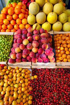 fruit stall, Syros, Greece