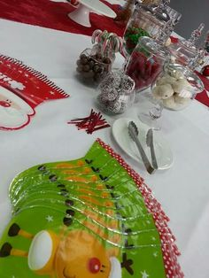 Christmas themed lolly bar.  Designed by Champei. Sydney based. www.champeihire.com