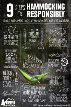 Hammock Camping – Being Responsible - Leave No Trace – Hammock camping in our great outdoors areas can be enjoyable, just be sure to leave it that way!