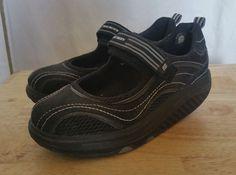 a46c9a57d0b Womens Skechers Shape-Ups Velcro Sneakers Mary Janes 11807 Size 6  SKECHERS   RunningCrossTraining