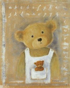 Find any Poster, Art Print, Framed Art or Original Art at Great Prices. Tatty Teddy, Bear Paintings, Love Bears All Things, Bear Illustration, Joelle, Pintura Country, T Art, Bear Doll, Bear Art