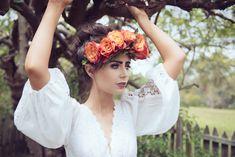 Roses crown bride